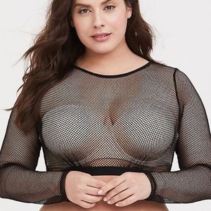 Torrid fishnet under it all crop top bralette 3X